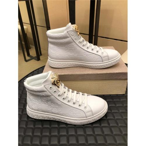 Versace High Tops Shoes For Men #915444 $76.00 USD, Wholesale Replica Versace High Tops Shoes