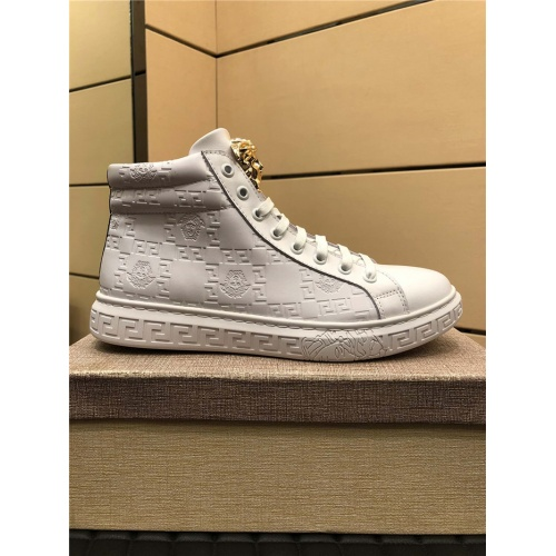 Replica Versace High Tops Shoes For Men #915444 $76.00 USD for Wholesale