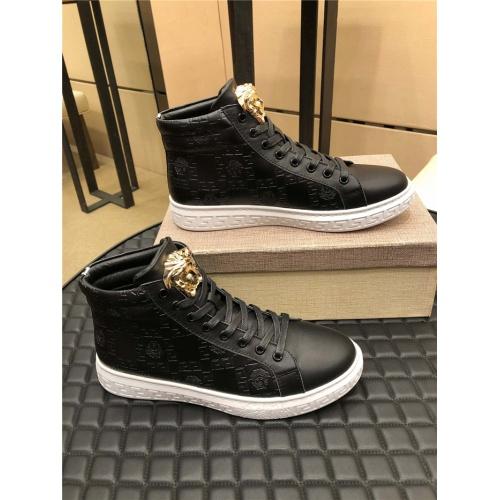Versace High Tops Shoes For Men #915445 $76.00 USD, Wholesale Replica Versace High Tops Shoes