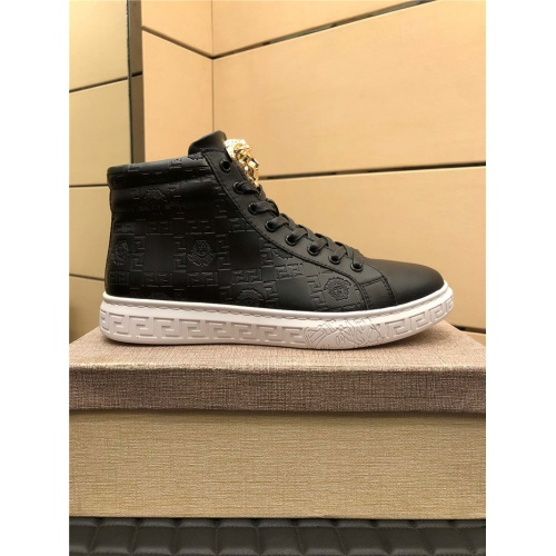 Replica Versace High Tops Shoes For Men #915445 $76.00 USD for Wholesale