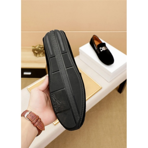 Replica Versace Leather Shoes For Men #915448 $68.00 USD for Wholesale