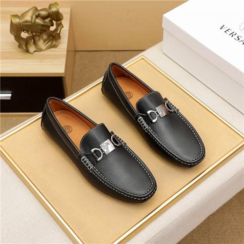 Versace Leather Shoes For Men #915449 $68.00 USD, Wholesale Replica Versace Leather Shoes
