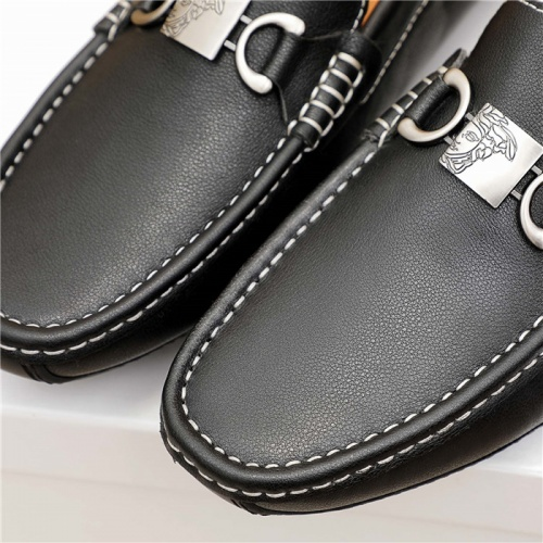 Replica Versace Leather Shoes For Men #915449 $68.00 USD for Wholesale