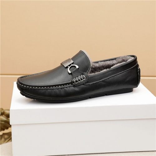Replica Versace Leather Shoes For Men #915450 $76.00 USD for Wholesale