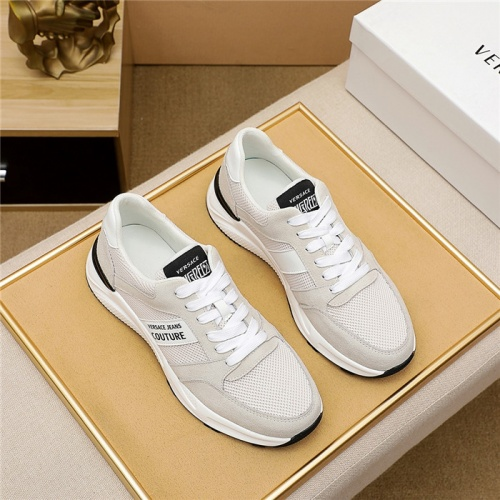 Versace Casual Shoes For Men #915453 $76.00 USD, Wholesale Replica Versace Casual Shoes