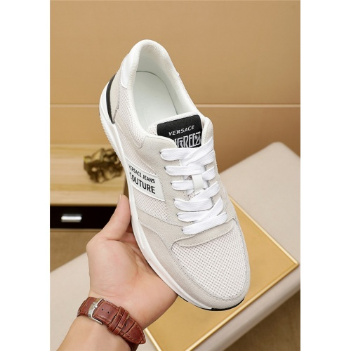 Replica Versace Casual Shoes For Men #915453 $76.00 USD for Wholesale