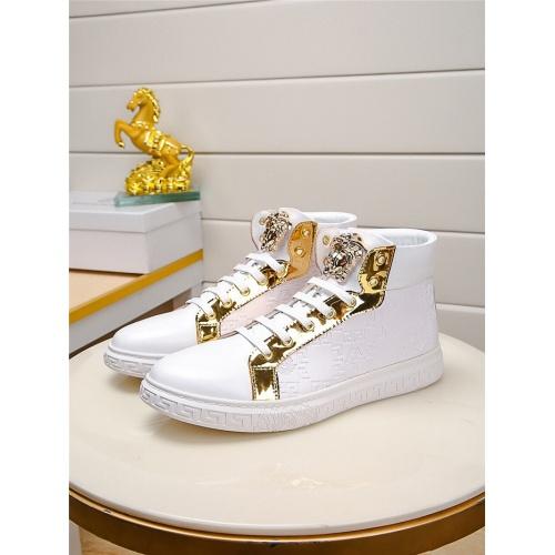 Versace High Tops Shoes For Men #915505 $76.00 USD, Wholesale Replica Versace High Tops Shoes