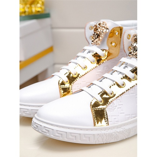 Replica Versace High Tops Shoes For Men #915505 $76.00 USD for Wholesale