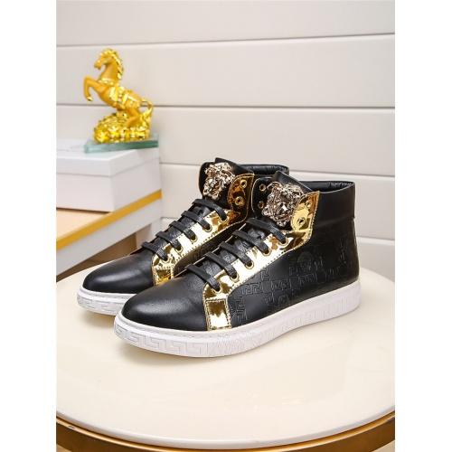 Versace High Tops Shoes For Men #915506 $76.00 USD, Wholesale Replica Versace High Tops Shoes