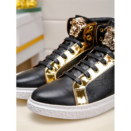 Replica Versace High Tops Shoes For Men #915506 $76.00 USD for Wholesale