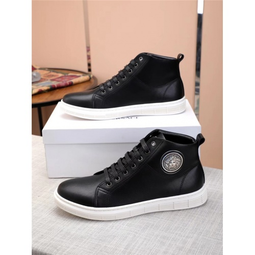 Versace High Tops Shoes For Men #915507 $80.00 USD, Wholesale Replica Versace High Tops Shoes