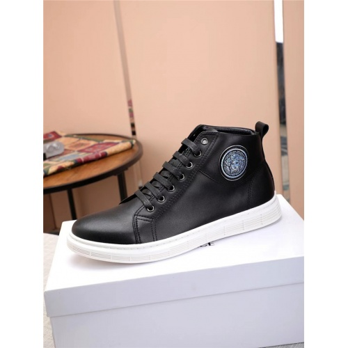 Replica Versace High Tops Shoes For Men #915507 $80.00 USD for Wholesale