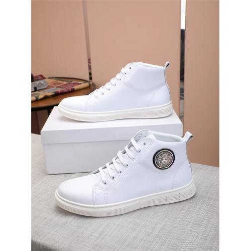 Versace High Tops Shoes For Men #915508 $80.00 USD, Wholesale Replica Versace High Tops Shoes