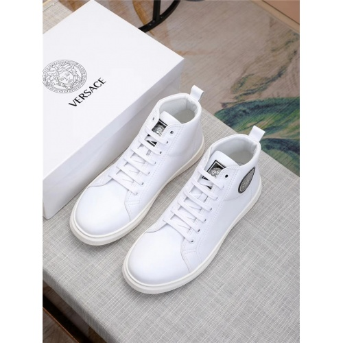 Replica Versace High Tops Shoes For Men #915508 $80.00 USD for Wholesale