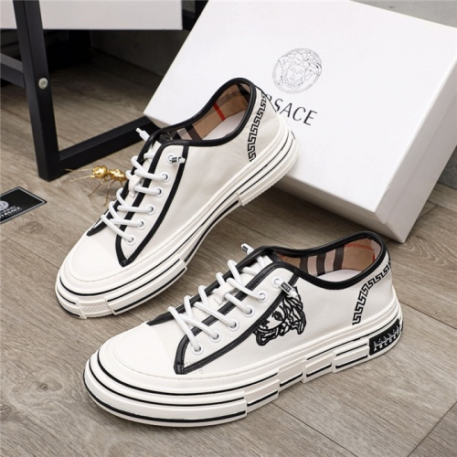 Versace Casual Shoes For Men #915509 $80.00 USD, Wholesale Replica Versace Casual Shoes