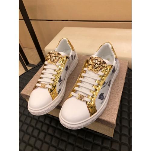 Versace Casual Shoes For Men #915511 $72.00 USD, Wholesale Replica Versace Casual Shoes