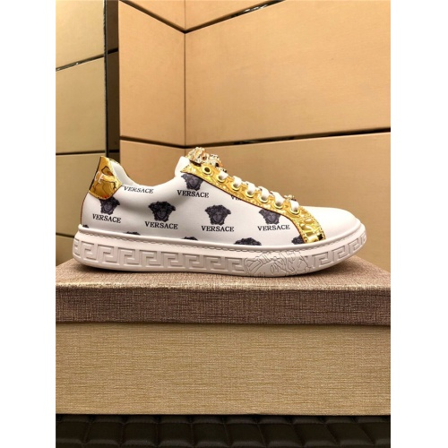 Replica Versace Casual Shoes For Men #915511 $72.00 USD for Wholesale