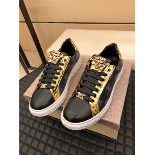Versace Casual Shoes For Men #915512 $72.00 USD, Wholesale Replica Versace Casual Shoes
