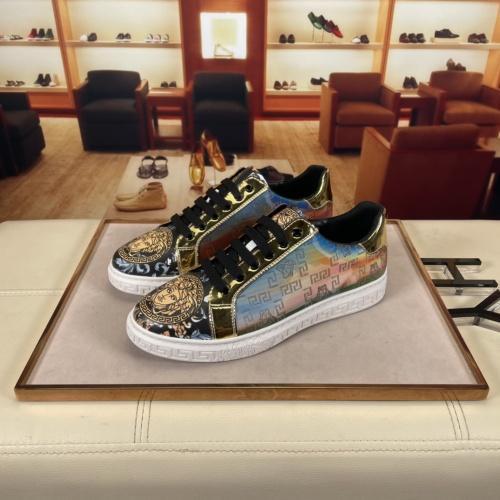 Versace Casual Shoes For Men #915678 $72.00 USD, Wholesale Replica Versace Casual Shoes
