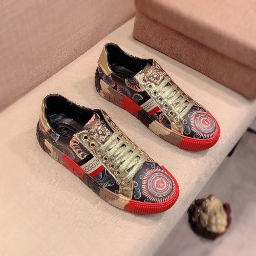 Versace Casual Shoes For Men #915680 $76.00 USD, Wholesale Replica Versace Casual Shoes