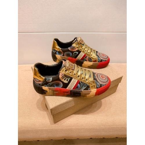 Versace Casual Shoes For Men #915683 $76.00 USD, Wholesale Replica Versace Casual Shoes