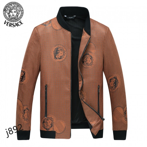 Versace Jackets Long Sleeved For Men #916085 $61.00 USD, Wholesale Replica Versace Jackets