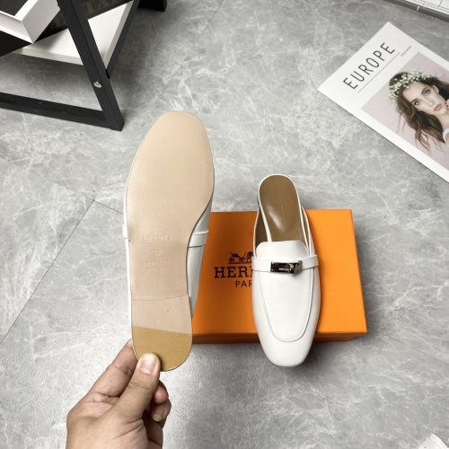 Replica Hermes Slippers For Women #916234 $88.00 USD for Wholesale