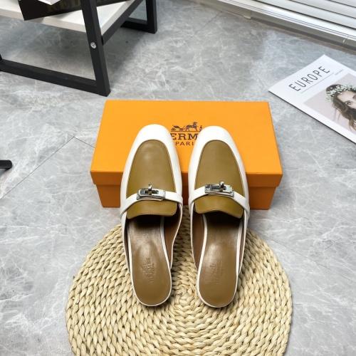 Hermes Slippers For Women #916235 $88.00 USD, Wholesale Replica Hermes Slippers