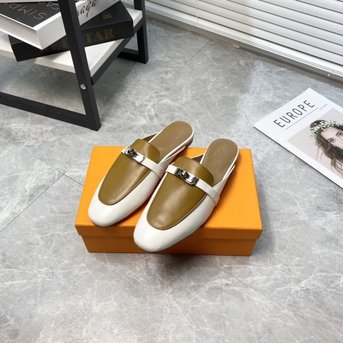 Replica Hermes Slippers For Women #916235 $88.00 USD for Wholesale