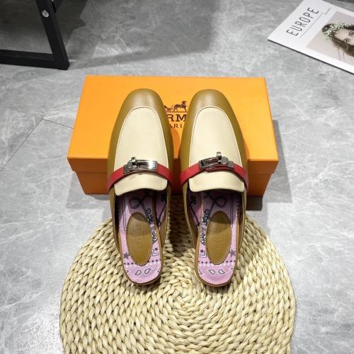 Hermes Slippers For Women #916236 $88.00 USD, Wholesale Replica Hermes Slippers