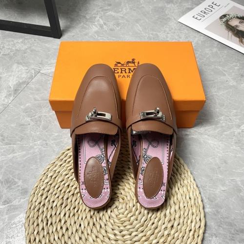 Hermes Slippers For Women #916237 $88.00 USD, Wholesale Replica Hermes Slippers