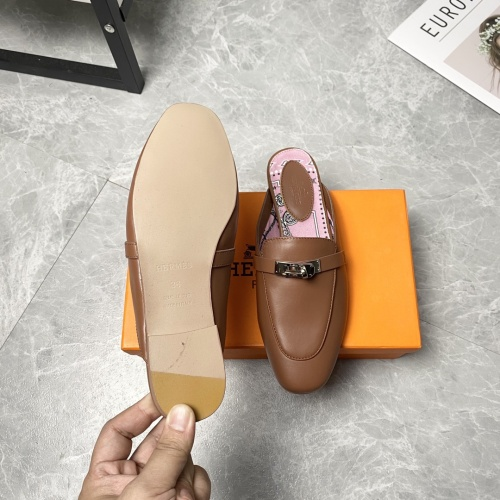 Replica Hermes Slippers For Women #916237 $88.00 USD for Wholesale