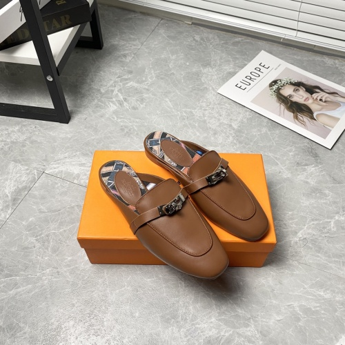 Replica Hermes Slippers For Women #916238 $88.00 USD for Wholesale