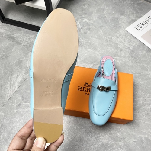 Replica Hermes Slippers For Women #916241 $88.00 USD for Wholesale