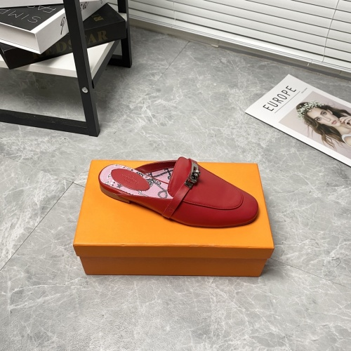 Replica Hermes Slippers For Women #916242 $88.00 USD for Wholesale