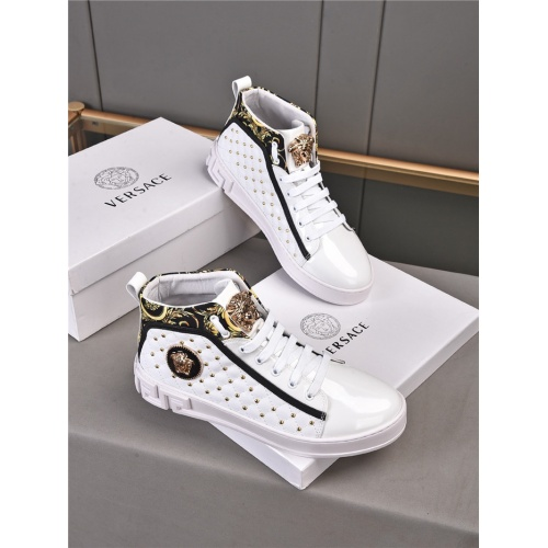 Versace High Tops Shoes For Men #922234